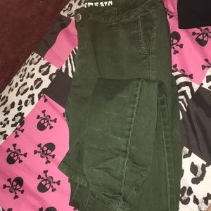 Denim - Dark green jeans